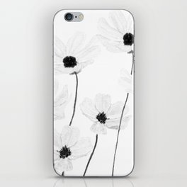 black and white cosmos iPhone Skin