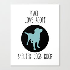 Shelter dog and rescue animal  Canvas Print