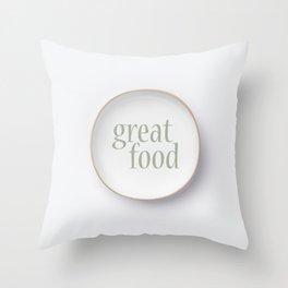 Empty white plate Throw Pillow