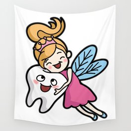 TOOTH FAIRY Toothfairy magic faery teeth gift Wall Tapestry