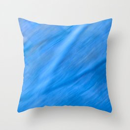 Blue Run Throw Pillow