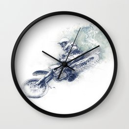 Flying High_Blue Wall Clock