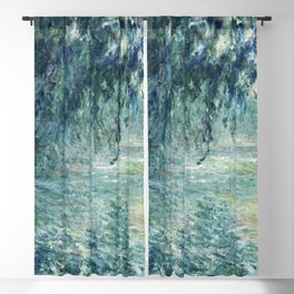Claude Monet - Morning on the Seine Blackout Curtain