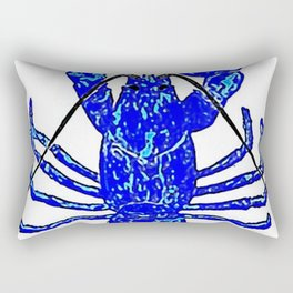 Blue Atlantic Lobster Rectangular Pillow