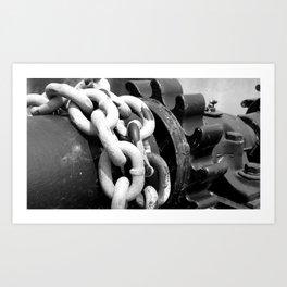 Dam Gear Chains Art Print