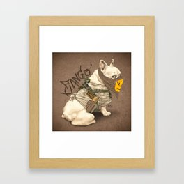 Doggy Vigilante // Django the French Bulldog Framed Art Print