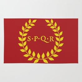 SPQR logo Rug