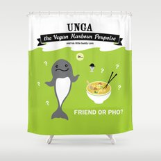 Friend or Pho? Shower Curtain