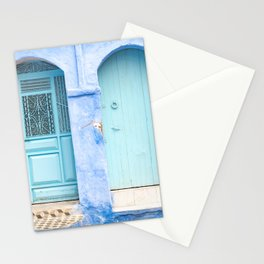Doors - Chefchaouen VI - The Blue City, Morocco Stationery Cards