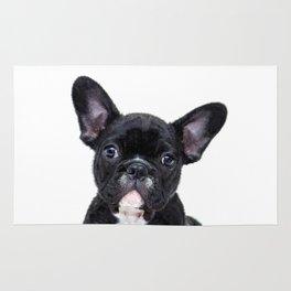 French bulldog portrait Rug