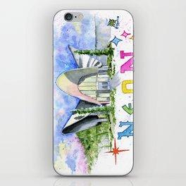 Neon Boneyard Las Vegas iPhone Skin