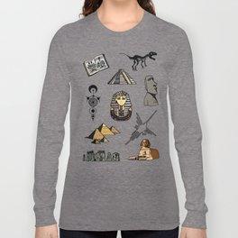 Dark Archeo pattern Long Sleeve T-shirt
