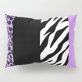 Animal Print, Zebra Stripes, Leopard Spots - Purple Pillow Sham