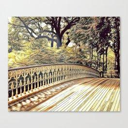 Parkland Bridge Airbrush Artwork Canvas Print