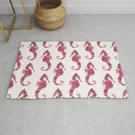 Seahorse – Pink & Gold Rug