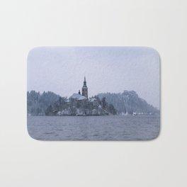 Misty Bled Lake Bath Mat