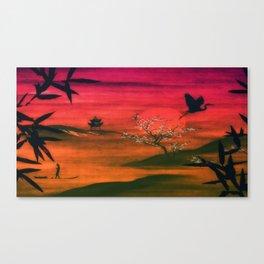 Oriental Sunset Canvas Print