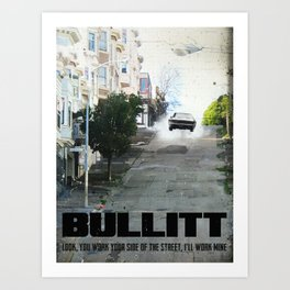 Bullitt travel movie art Art Print