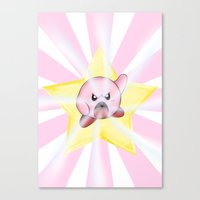 kirby Canvas Prints featuring Kirby by DROIDMONKEY
