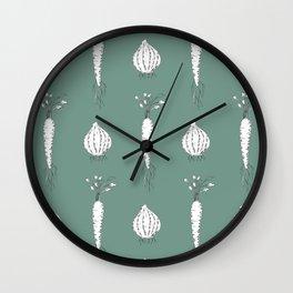 Green Veggies Wall Clock