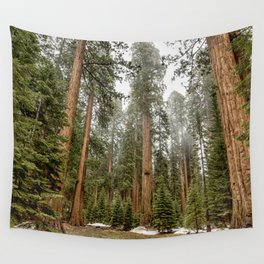 Sequoias in the Fog Wall Tapestry