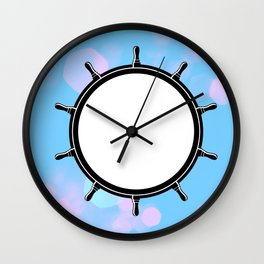 Cotton Candy Anchor Wall Clock