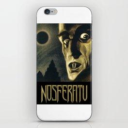 Nosferatu, Vintage Horror Movie Poster iPhone Skin