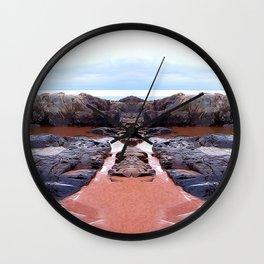 Reflection of Short Rock Wall Clock