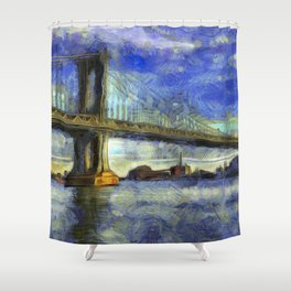 Manhattan Bridge New York Art Shower Curtain