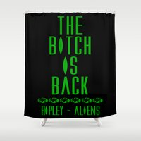 aliens Shower Curtains featuring Aliens by SwanniePhotoArt