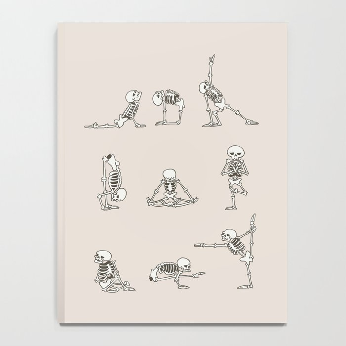 Skeleton Yoga Notebook
