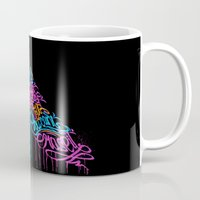 pen Mugs featuring PEN by ES427