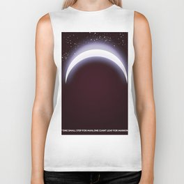 One small step for man, one giant leap for mankind space art. Biker Tank