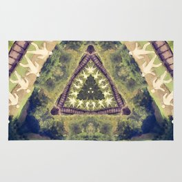 Walkers On A Railroad Rug