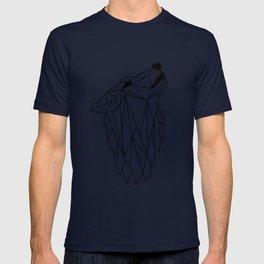 Geometric Howling Wild Wolf T-shirt