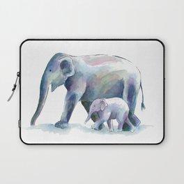 Elephant & baby watercolor Laptop Sleeve