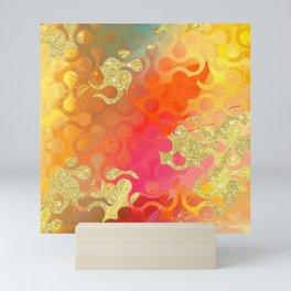 Decorative Gold Sparkling Bright Abstract Design Mini Art Print