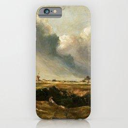 John Constable - Windmills in landscape iPhone Case