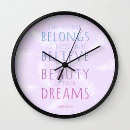 Beauty Dreams Wall Clock