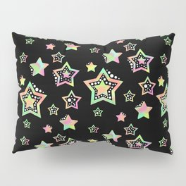 Pastel Stars Pillow Sham