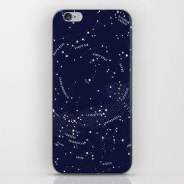 Constellation Map - Indigo iPhone Skin