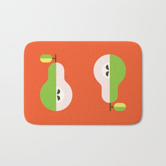 Fruit: Pear Bath Mat