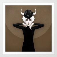 khaleesi Art Prints featuring Sever by Ruben Ireland