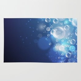 Illustraiton of underwater background with light rays Rug