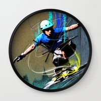 daredevil Wall Clocks featuring Daredevil #2 by PHANTOM Longboard