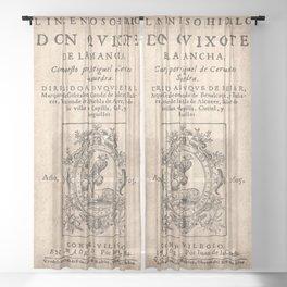 Cervantes. Don Quijote, 1605. Sheer Curtain