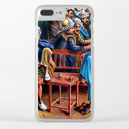 Old Arabic Coffee Shop Clear iPhone Case