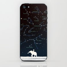 Falling star constellation iPhone & iPod Skin