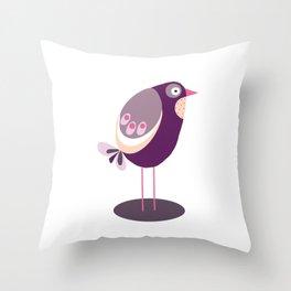 Bird in brown Throw Pillow
