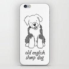 Dog Breeds: Old English Sheep Dog iPhone & iPod Skin